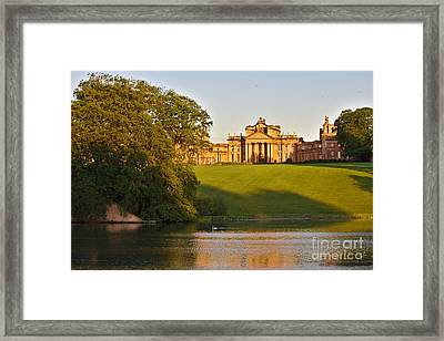 Blenheim Palace And Lake Framed Print