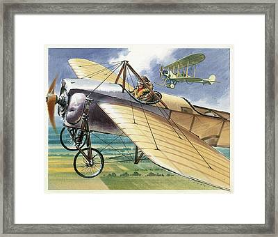 Bleriot Xi Monoplane Framed Print by Wilf Hardy
