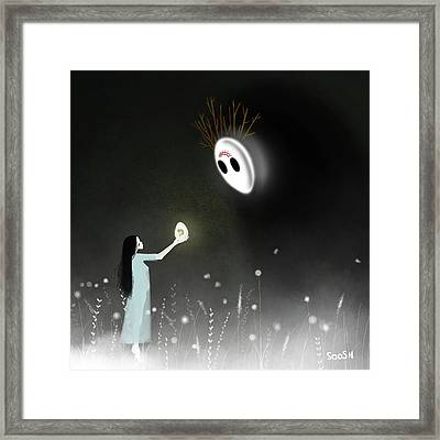 Bless My Child Framed Print by Soosh