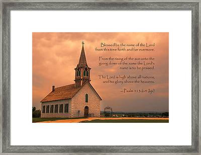 Bless The Lord Framed Print by Stephen Stookey