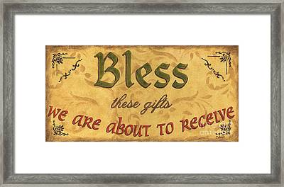 Bless These Gifts Framed Print