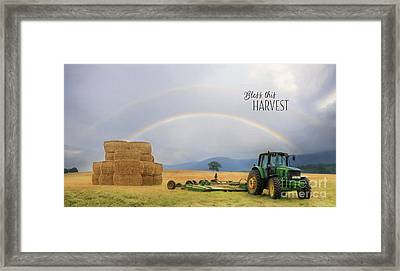 Bless This Harvest Framed Print by Lori Deiter