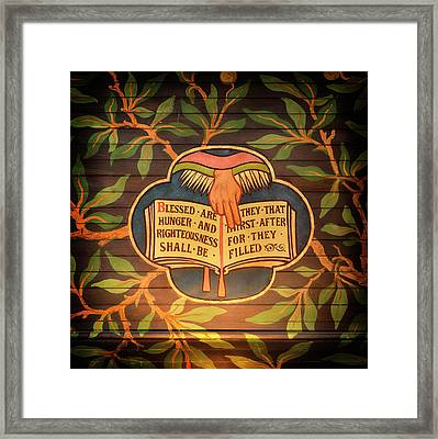 Blessed Are Framed Print by Stephen Stookey