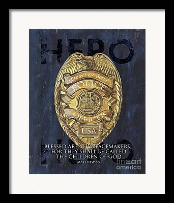 Cop Paintings Framed Prints