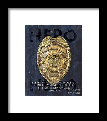 Police Framed Prints