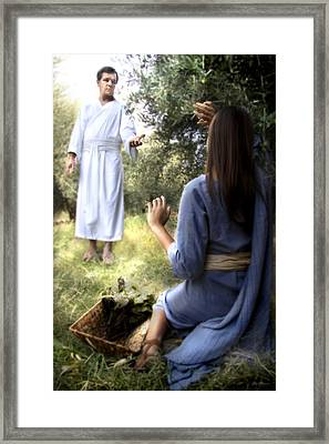 Blessed Art Thou Among Women Framed Print