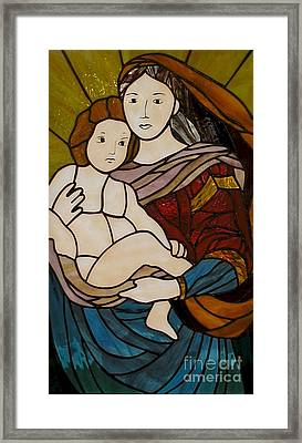 Blessed Art Thou Among Women-mary Framed Print by David Gomm