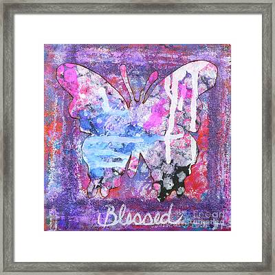 Blessed Butterfly Framed Print