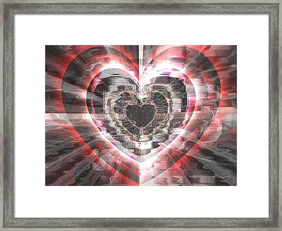 Framed Print featuring the glass art Blessed Heart by Fania Simon