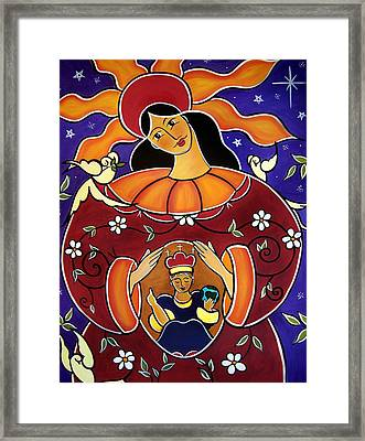 Framed Print featuring the painting Blessed Is The Fruit Of Thy Womb by Jan Oliver-Schultz