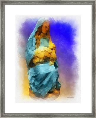Blessed Mary With Child Pa 01 Framed Print