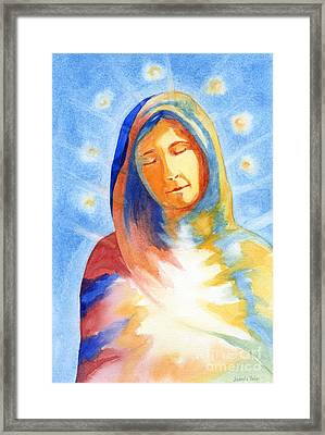 Blessed Mother Framed Print by Juanita Yoder