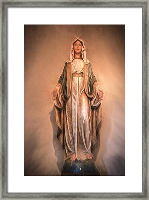 Blessed Virgin Mary Framed Print by Donna Kennedy