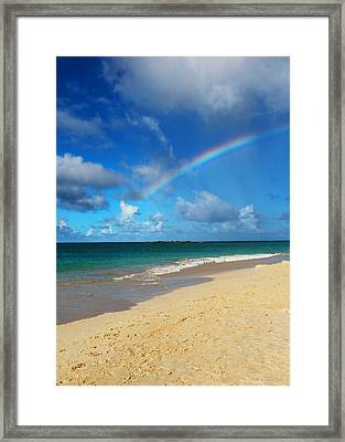 Blessed With A Rainbow Framed Print