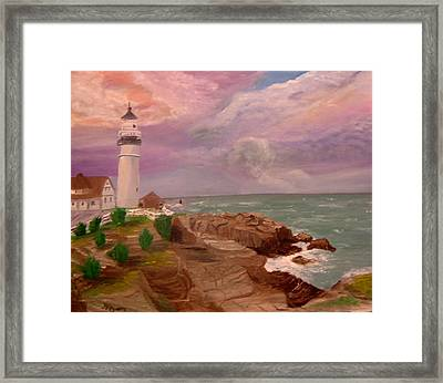 Blessing In D Skies Framed Print by Mary Kaser