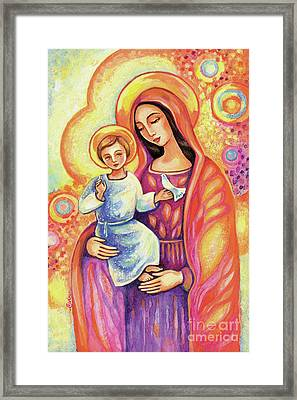 Blessing Of The Light Framed Print by Eva Campbell