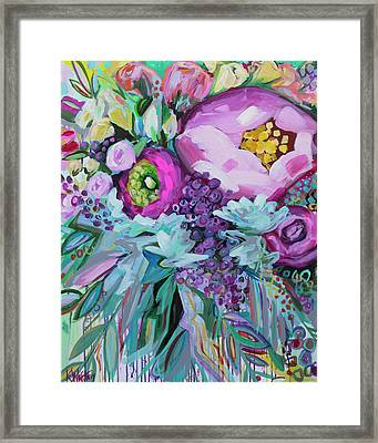 Blessings Come From Raindrops Framed Print by Kristin Whitney