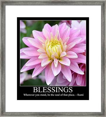 Blessings Dahlia Framed Print