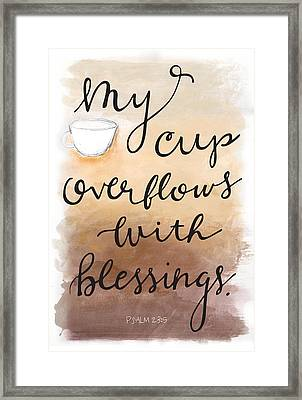 Framed Print featuring the mixed media Blessings by Nancy Ingersoll