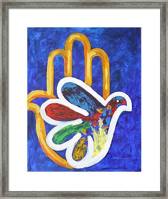 Framed Print featuring the painting Blessings Of Peace by Mordecai Colodner