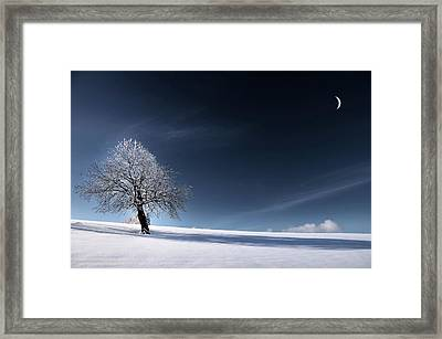 Bleu Comme Neige Framed Print