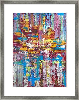 ''bleu,red And Yellow 2'' Framed Print