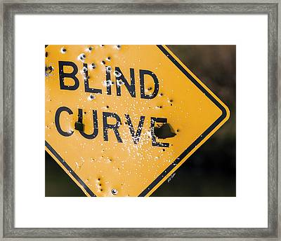 Framed Print featuring the photograph Blind Curve by Bill Kesler