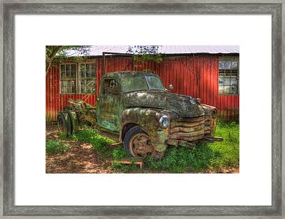 Blind In One Eye 1947 Chevy Flatbed Truck Framed Print