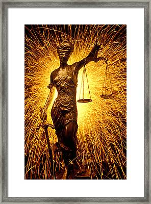 Blind Justice  Framed Print by Garry Gay