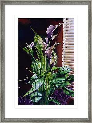 Blind Luck Lilies Framed Print by Mike Hill
