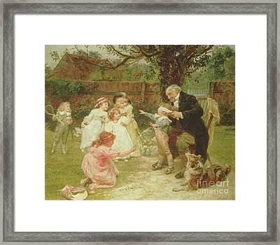 Blind Man's Buff Framed Print by Frederick Morgan