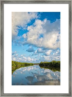 Blind Pass Bowman Beach Sanibel Florida Framed Print by Edward Fielding