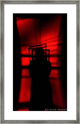 Blind Shadow Framed Print