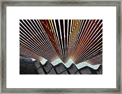 Blind Shadows Abstract I I I Framed Print