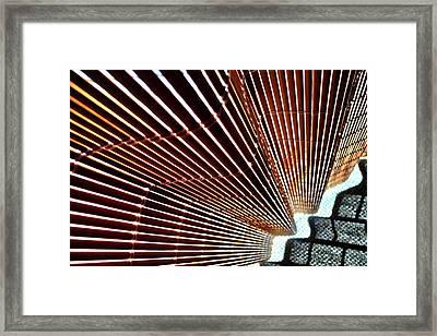 Blind Shadows Abstract I I Framed Print