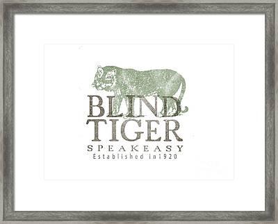 Blind Tiger Speakeasy Tee Framed Print by Edward Fielding