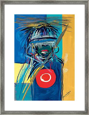 Blind To Culture Framed Print by Oglafa Ebitari Perrin