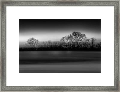 Blink Black And White Framed Print
