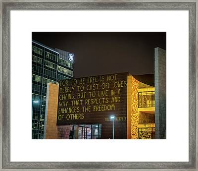 Blink Cincinnati - Freedom Center Framed Print