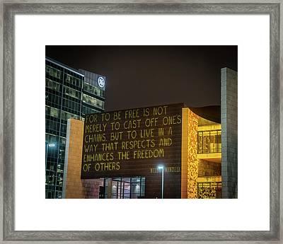 Blink Cincinnati - Freedom Center Framed Print