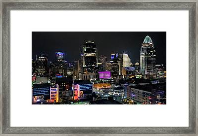 Blink Cincinnati - Skyline  Framed Print