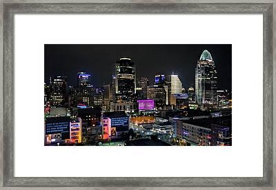 Blink Cincinnati - Skyline  Framed Print
