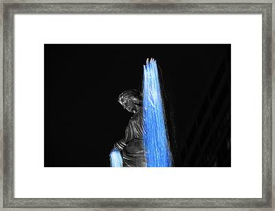 Blink Cincinnati - Tyler Davidson Fountain On Fountain Square Framed Print