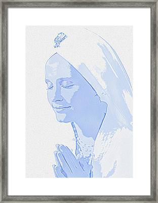 Bliss Is God Framed Print by Manjot Singh Sachdeva