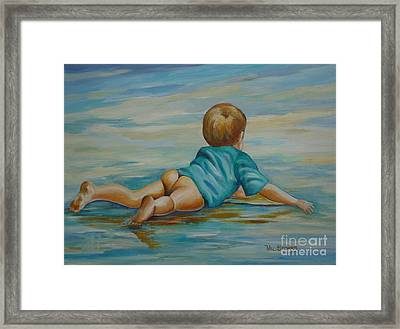 Bliss Framed Print by Val Stokes