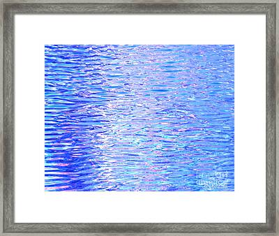 Blissful Blue Ocean Framed Print
