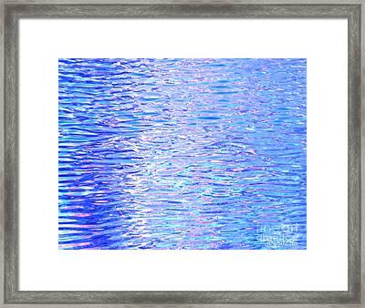 Blissful Blue Ocean Framed Print