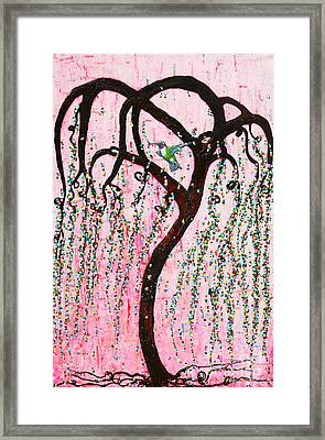 Framed Print featuring the mixed media Blissful Melody by Natalie Briney