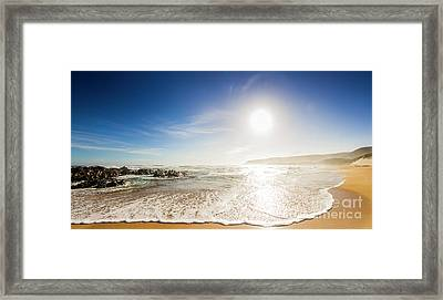 Blissful Ocean Panorama Framed Print by Jorgo Photography - Wall Art Gallery