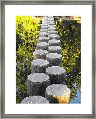 Blissful Path Of Tranquility Framed Print